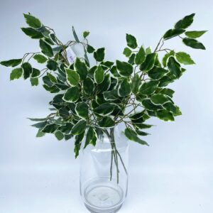 HG16 Hanging small leaves white edge (63cm)