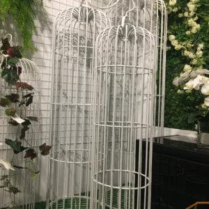 AI06 Iron birdcage Large set of 3 (2 colors: white &black)