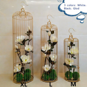 AI06 Iron birdcage Large set of 3 (gold)