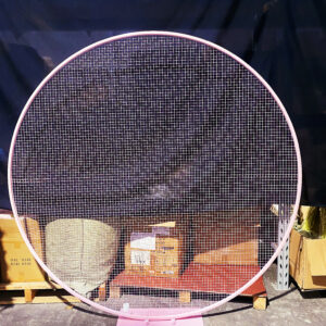 AI46 2m stand round mesh backdrop, color: white, black, blue and pink