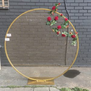 AI45 1.6m stand round mesh backdrop(gold)