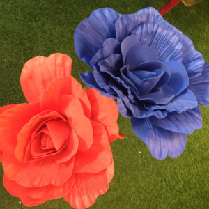 LS18 rose 40cm red/ blue