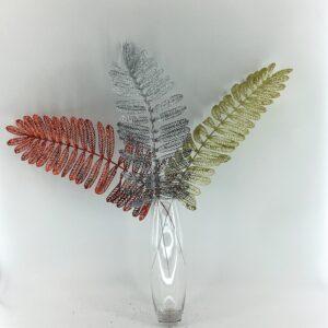 MC021Glitter fern leaves 70 cm