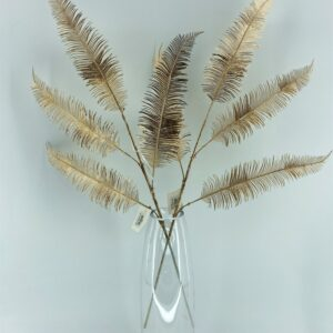 GL66: Ostrich feather 4 forks gold