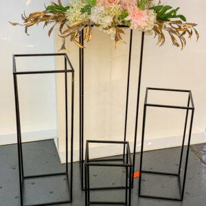AI02A Square Frame Set of 4 Black